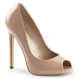Shoes - 5 Inch High Heel Platform Stiletto Peep Toe Shoes